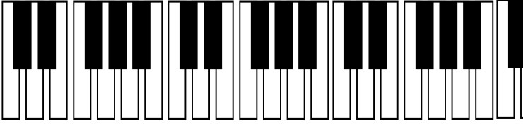 Piano keyboard header