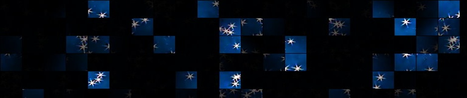 Black and blue with stars header art