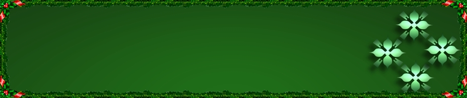 holiday header art green and red